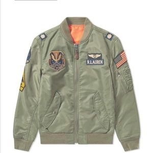 Polo Ralph Lauren Military Patches Bomber Jacket